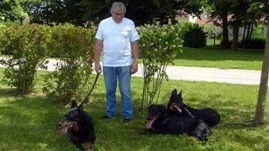 Mon mari et nos 3 beaucerons Nouba, U'Nelma, Breindha
