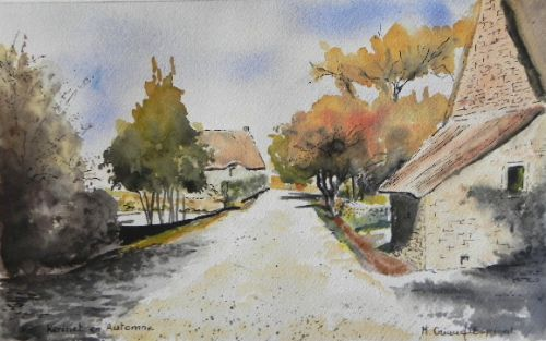 Village de Kérinet en Automne