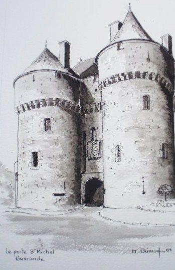 Encre - Porte St Michel à Guérande