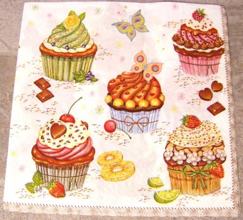 Serviette papier gourmandise cupcakes SERV005 c.JPG