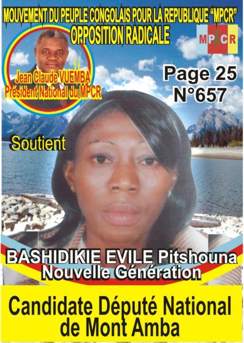 BASHIDIKIE EVILE Pitshouna, candidate député national de Mont Amba