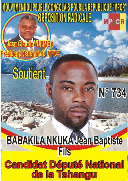 BABAKILA NKUKA Jean Baptiste, candidat député national de la Tshangu