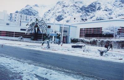 Hôtel de ville de kherrata sous la neige