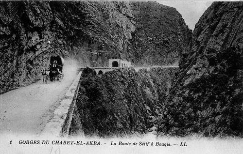 Gorges 1887, diligence reliant Bougie à Sétif