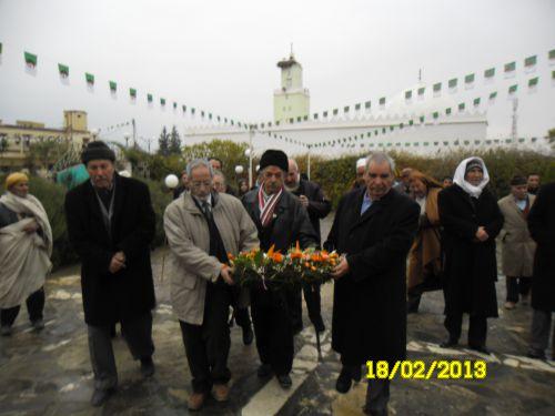 celebration de la journée du Chahid chez Les At LeqsaR: Boumekouez ahmed, Ali Djoumad, Slimane Merouane et Hamou Gouzi