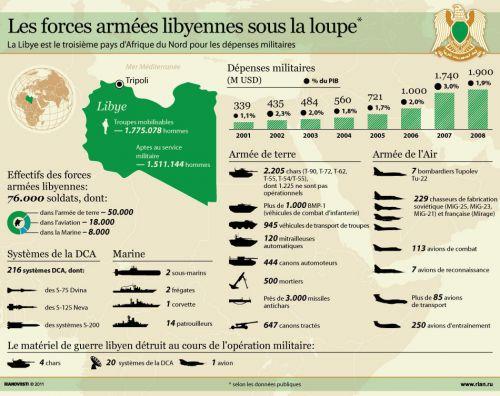 Etat théorique des forces libyennes