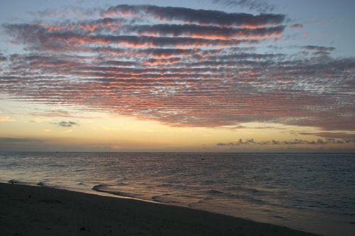 Fin de coucher de soleil à Trou aux Biches