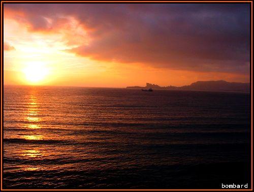coucher de soleil d'automne
