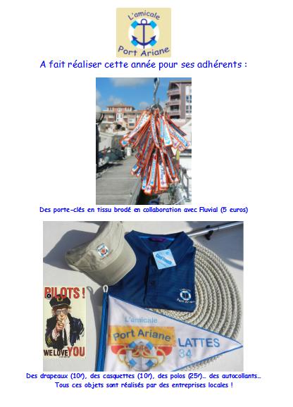 casquettes polos porte clés amicale port ariane lattes farandole 2013.PNG