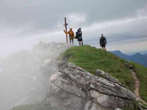 Sommet du Mont Colombier (on n'a pas trainé!)