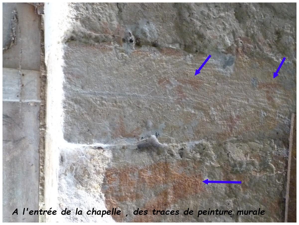 Quelques traces de peintures murales