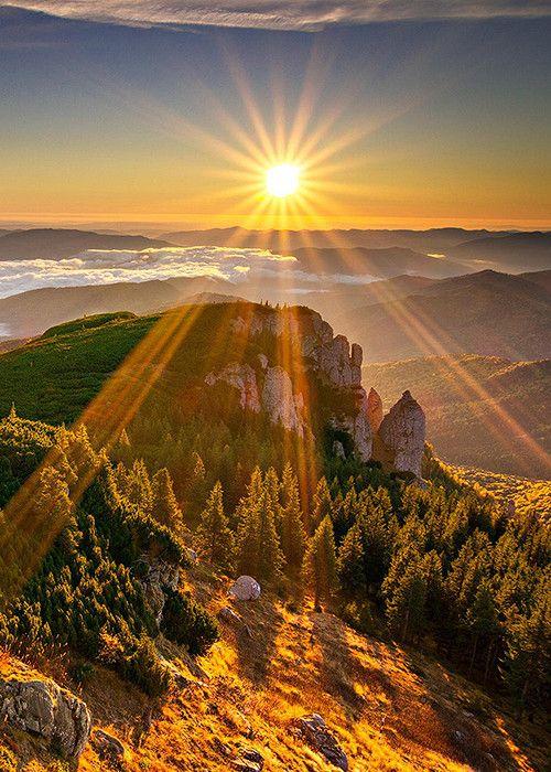 Magnifique soleil couchant.