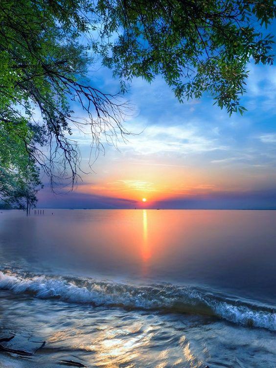 Un beau coucher de Soleil.