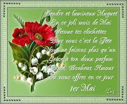 Aujourd'hui 1 er mai, je vous souhaite à tous et toutes beaucoup de bonheur.