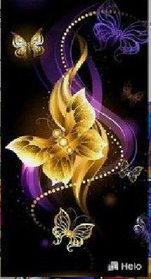 Un papillon en or pour votre âme.
