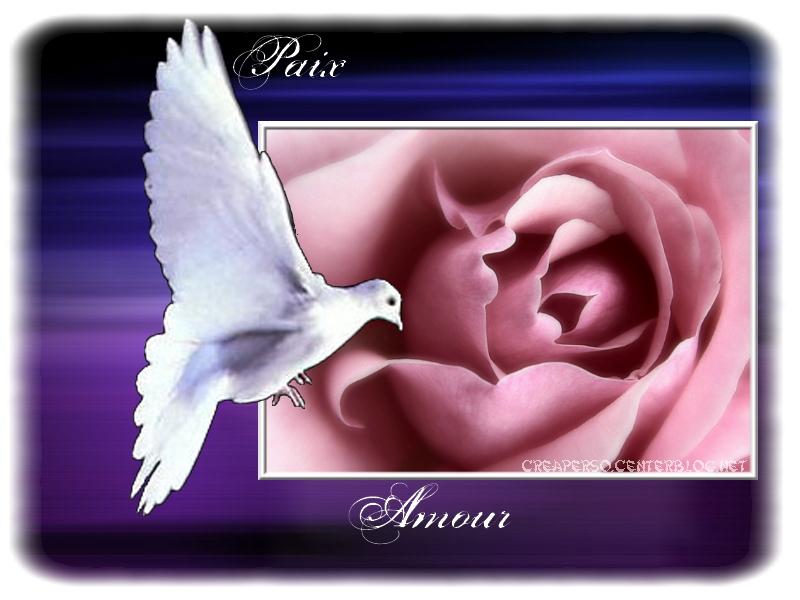 Amour, Paix et joie sur terre.