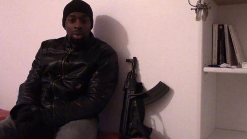 Extrait de la vidéo de revendication d'Amedy Coulibaly