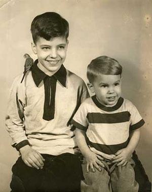 Les 2 frères Kaczynski enfants.