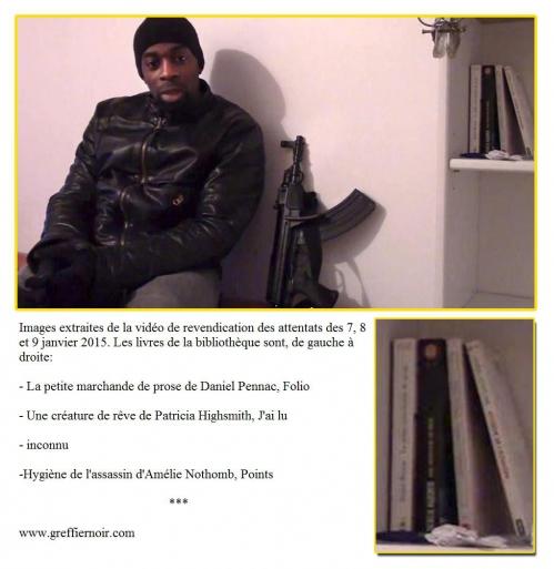 Charlie Hebdo video revendication coulibaly highsmith pennac nothomb creature reve.jpg