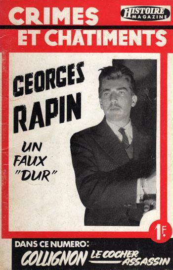 Georges Rapin alias monsieur Bill  en couverture de Crimes et Chatiments.