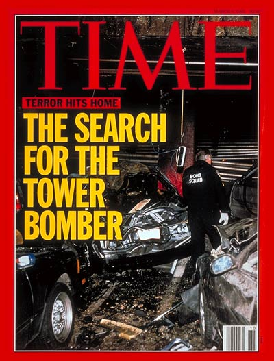 Une couverture du Time Magazine sur l'attentat de 93 contre le WTC ramzi youssef al quaida ksm