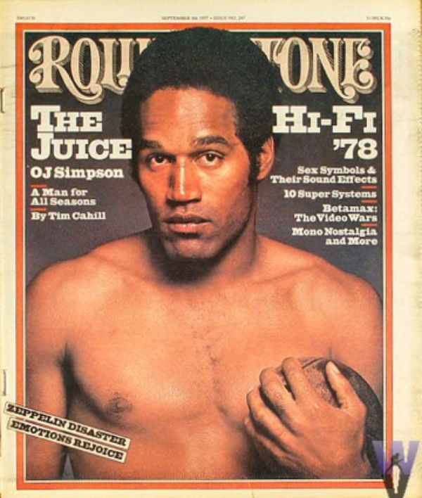 OJ Simpson en couverture de Rolling stone