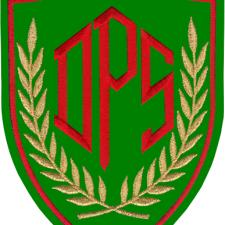 Le sigle du DPS, le service d'ordre du Front National.