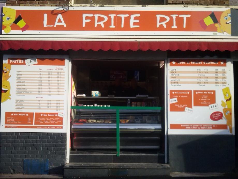 La friterie astucieusement nommée La Frite Rit Le restaurant de Aurore Joly et Claude Hermant
