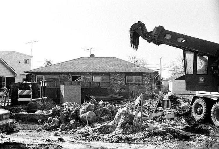 travaux d'excavation chez gacy