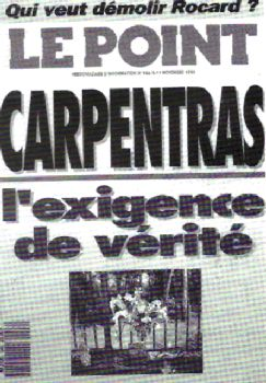 couverture du Point sur l'affaire Carpentras