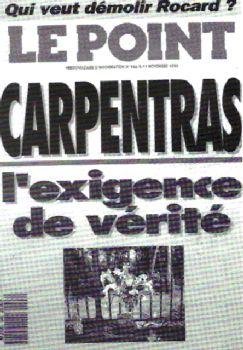 couverture du Point sur l'affaire Carpentras