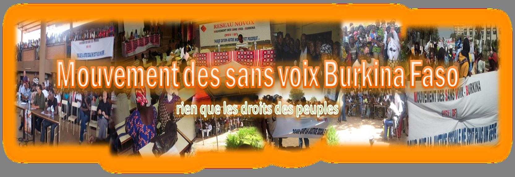 MOUVEMENT DES SANS VOIX BURKINA FASO