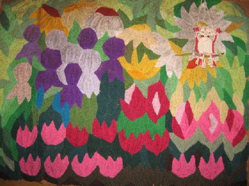 Panneau fleurs patchwork