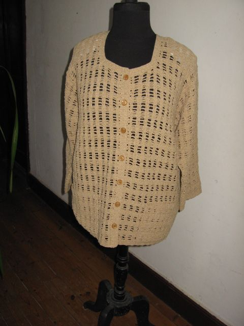 Veste crochet -  moutarde