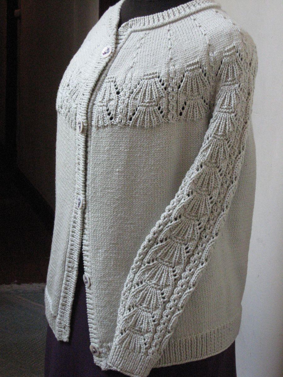 Veste en cordonnet de soie