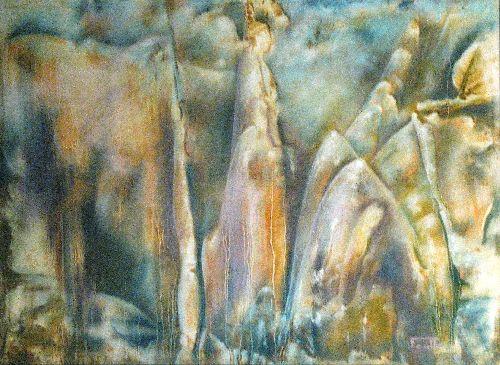 Résurgence - pastel 79x59 cm