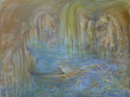 Vestiges - Pastel sur toile - 60x80 cm