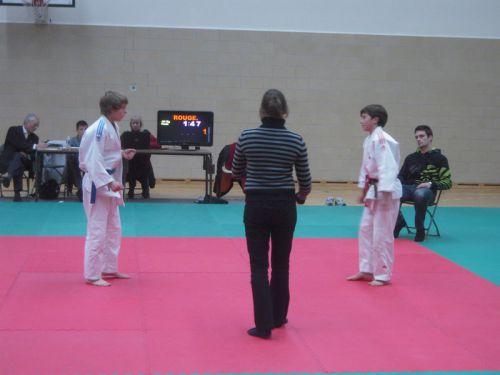 Matthieu face à son adversaire de l'ACBB
