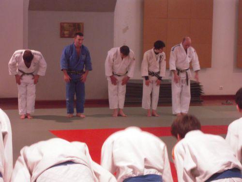 Le REI à la fin du 3eme jour avant de rejoindre les cadets et les juniors dans le dojo principal