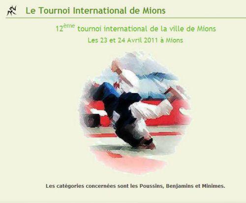 Le 12 eme Tournoi international de Mions avait lieu le 24 avril 2011