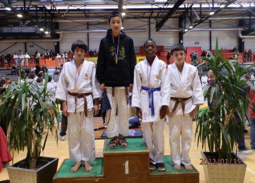 3 KCC sur le meme podium : Nassim et Olivier 3emes et moi 2eme