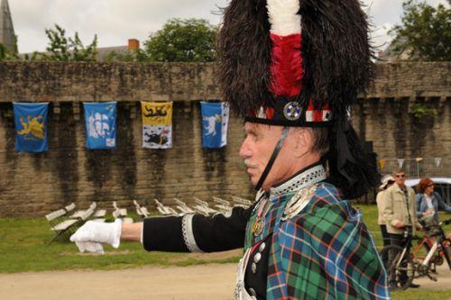 John Peter DINE, Drum Major of Askol Ha Brug Pipe Band