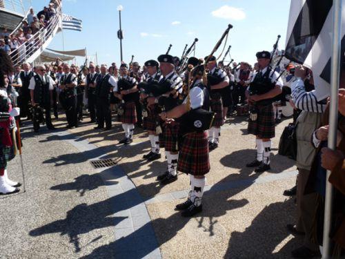 Askol Ha Brug Pipe Band à de la fête Bretonne du Pouliguen