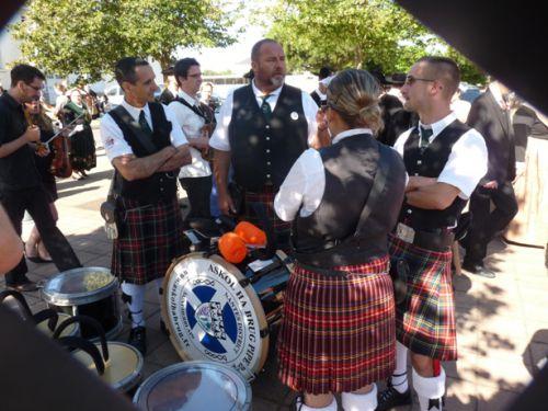 Askol Ha Brug Pipe Band à la fête Bretonne du Pouliguen