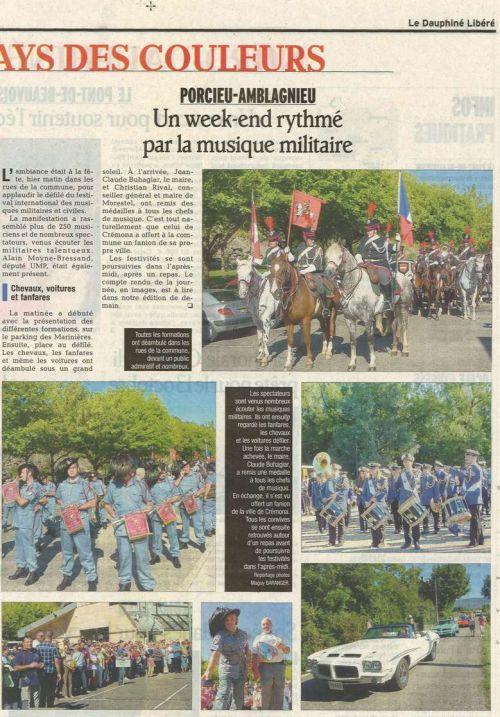 Article de journal envoyé par Roland notre guide