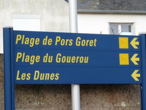 Direction la pointe de Pors Goret (à coté de la plage) et la plage du Gouérou à Lampaul-Plouarzel