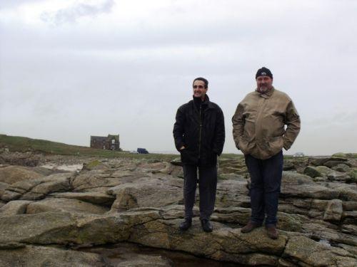 Thierry et Reun à la pointe de Beg-Ar-Vir à Lampaul-Plouarzel