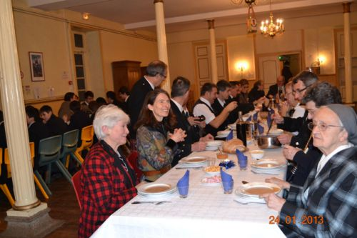 The main table with Askol Ha Brug Pipe Band
