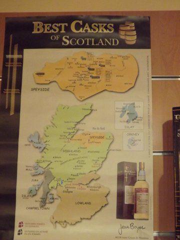 La carte des Whiskys