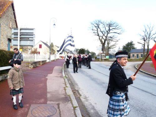 le départ du défilé